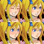 金髪ツインテールの女の子_顔