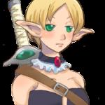 エルフの女剣士