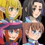 VXAceキャラクター生成用 顔グラフィックパーツ(少女:斜め)