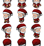 Santa Sprites for RPG Maker MV